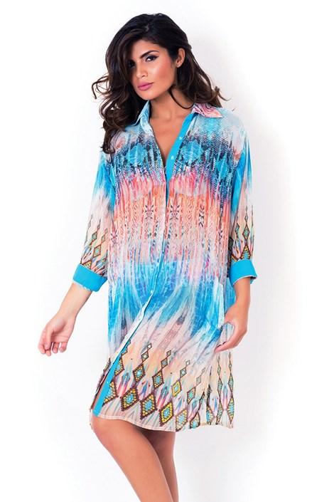 Włoska koszulowa sukienka plażowa David Mare Python