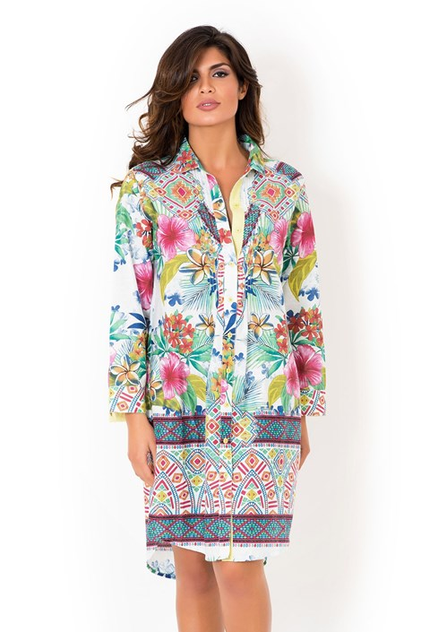 Włoska sukienka koszulowa David Beachwear Rajastan.