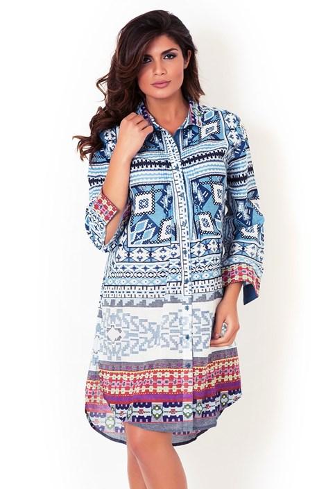 Włoska sukienka koszulowa David Beachwear, kolekcja Gujarat