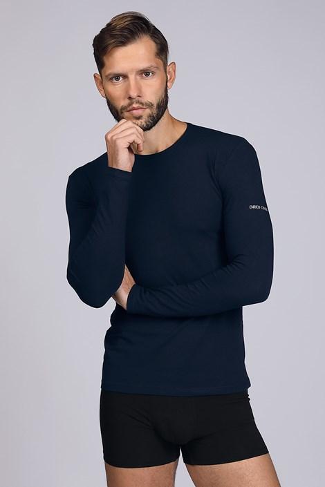 Ciemnoniebieska koszulka z długim rękawem