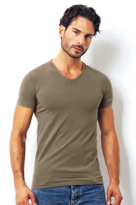 Męski T-shirt włoskiej produkcji Enrico Coveri 1501i Salvia