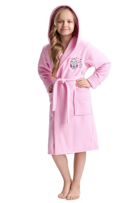 Dziewczęcy szlafrok Lovely Pink