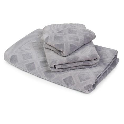 Mały ręcznik Charles szary