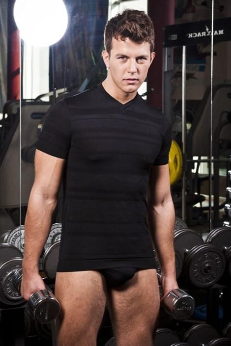 Bezszwowy T-shirt męski Slimfit Sport