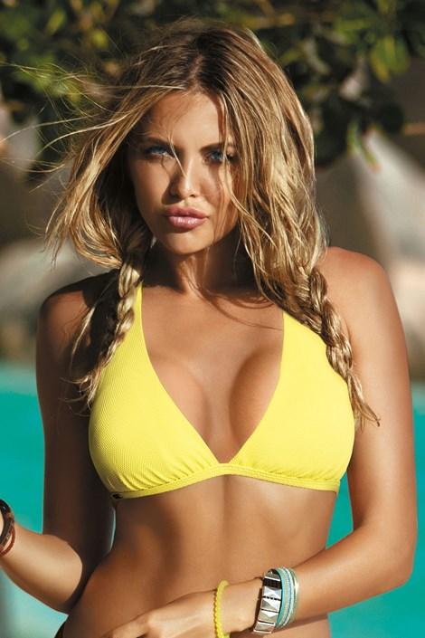Biustonosz od stroju kąpielowego bikini Naomi Yellow