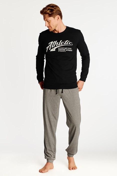 Czarno-szara piżama Optim