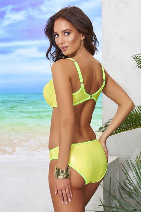 d6e28e5937 Dwuczęściowy damski kostium kąpielowy Viky Lime