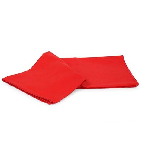 Ręcznik funkcyjny i ręcznik kąpielowy czerwony