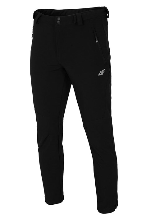 Męskie spodnie z softshellu Black