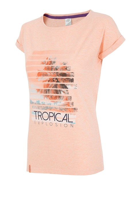 Damski T-shirt sportowy 4F Tropical Coral