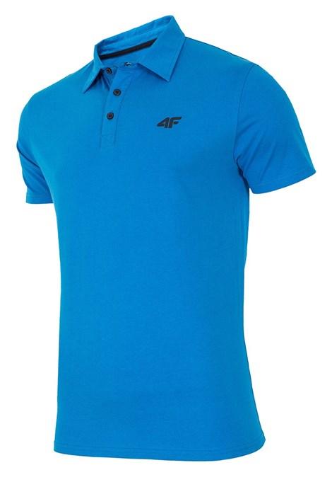 Męska koszulka polo 4F Blue 100% bawełna