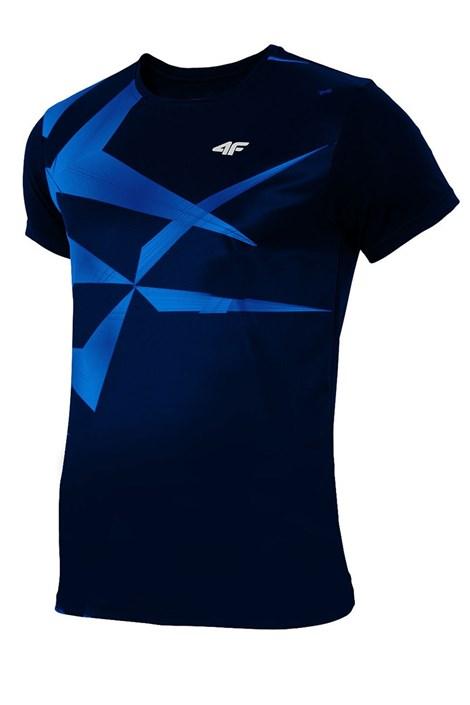 Męski T-shirt sportowy 4F Dry Control Blue effect