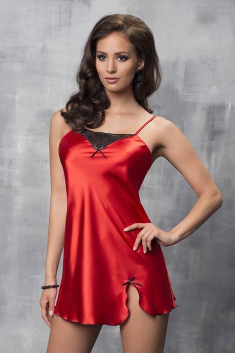 Luksusowa satynowa koszula Tara Red