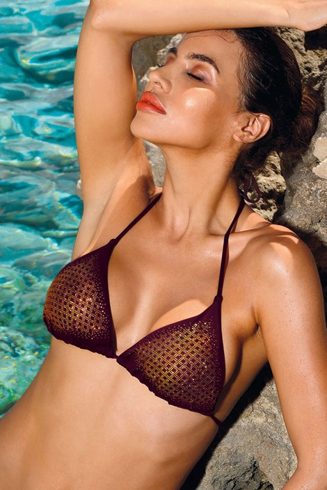 Biustonosz od stroju kąpielowego bikini Verona Bordo