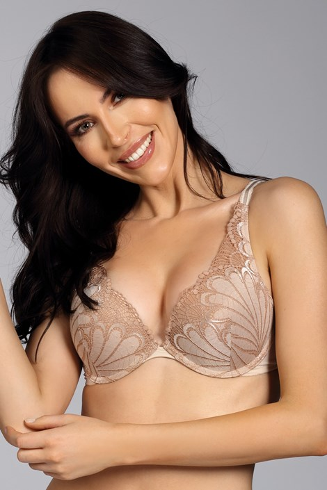 Biustonosz Wonderbra Triangel Double Push-Up Ivory