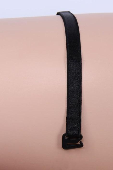 Ramiączka tekstylne 10 mm czarne