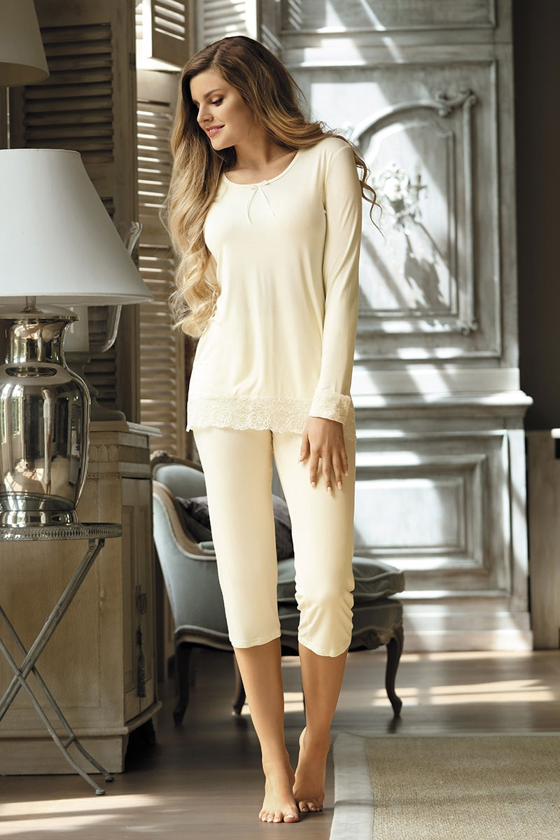 f84892a4df79ef Elegancka piżama damska Cornelia Ecru | Astratex PL