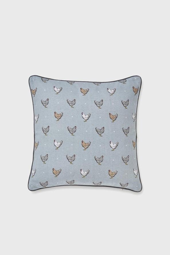 Poduszka dekoracyjna Kurki niebieska