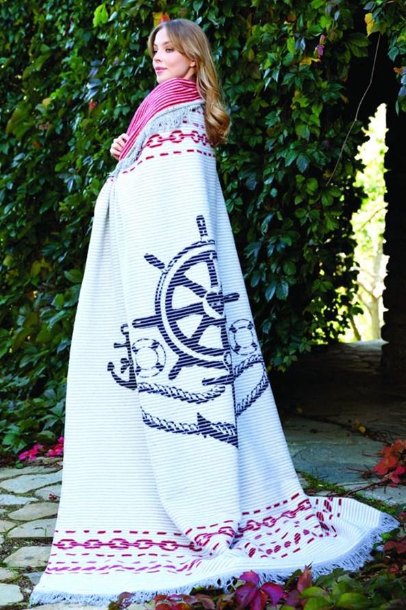 Luksusowy bawełniany koc Marine