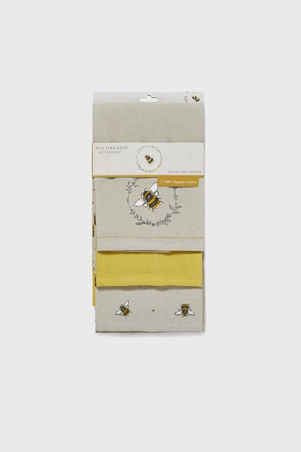 Komplet ścierek kuchennych Pszczółki