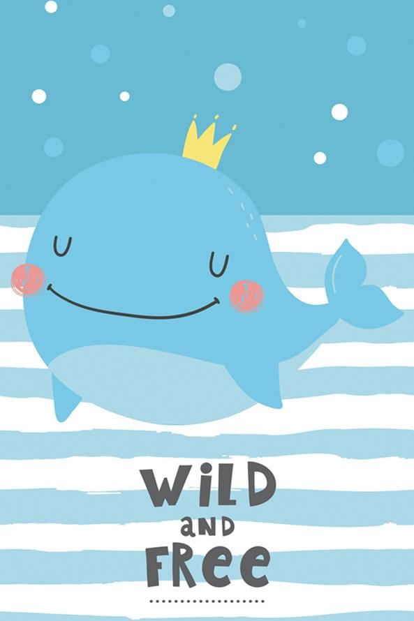 Dziecięcy ręcznik Wieloryb