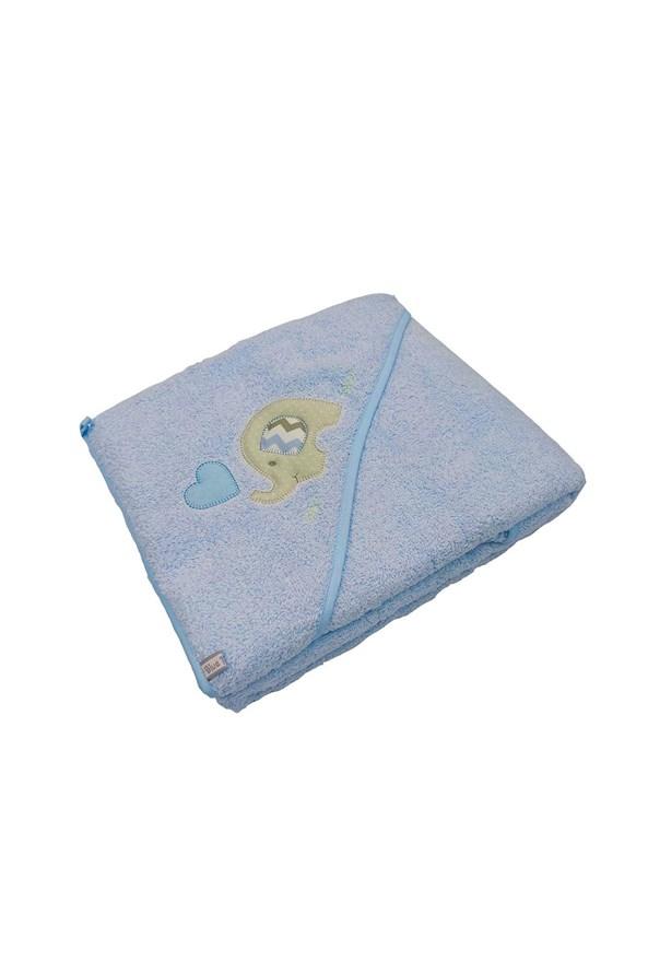 Dziecięcy ręcznik kąpielowy Blue Kids niebieski słoń