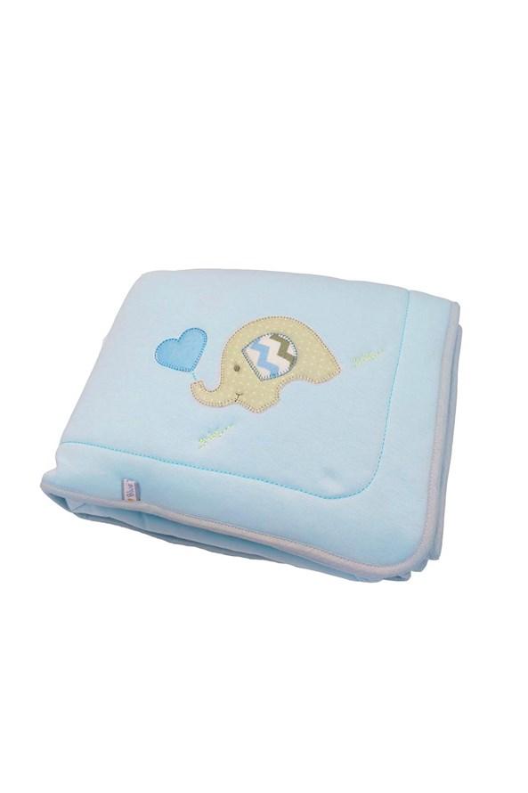 Kocyk niemowlęcy Blue Kids Niebieski Słoń