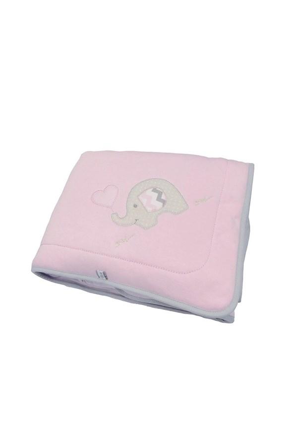 Kocyk niemowlęcy Blue Kids Różowy Słoń