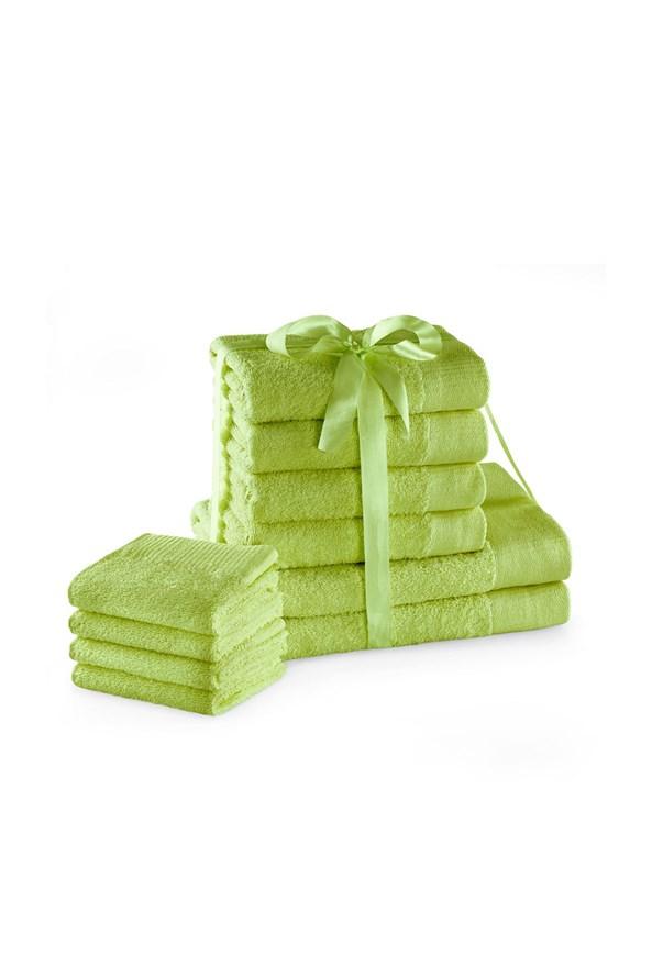 Komplet ręczników Amari Family limonkowy