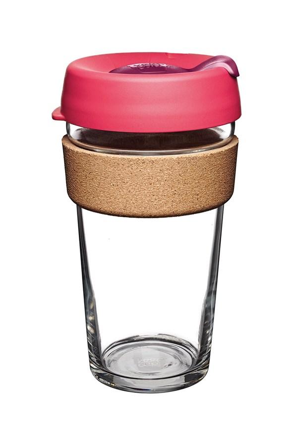 Kubek podróżny Keepcup różowy z korkiem 454 ml