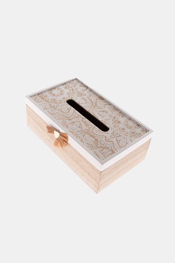 Drewniane pudełko na chusteczki do nosa