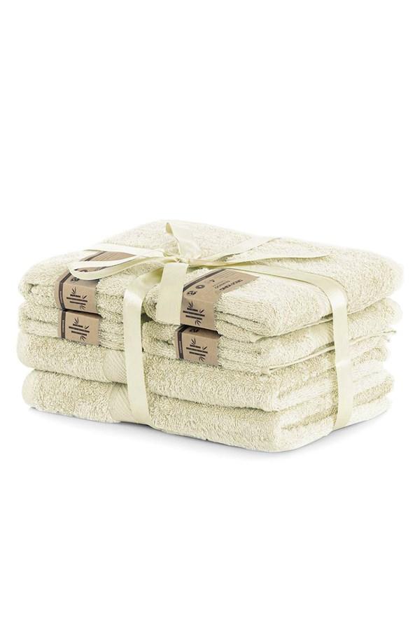 Komplet bambusowych ręczników Bamby Ecru