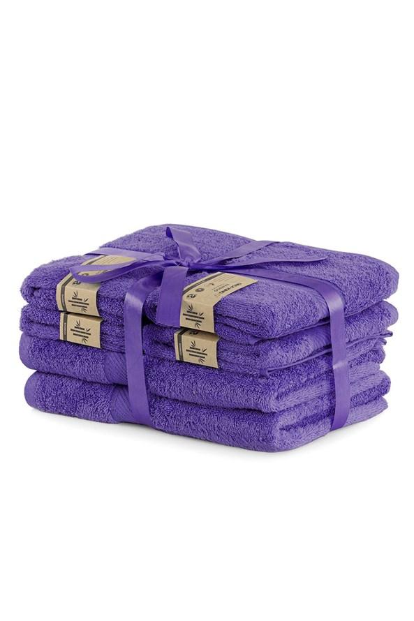 Komplet bambusowych ręczników Bamby fioletowy