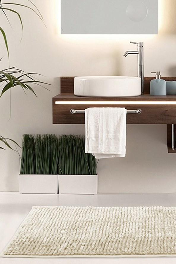 Dywanik łazienkowy Bati beżowy