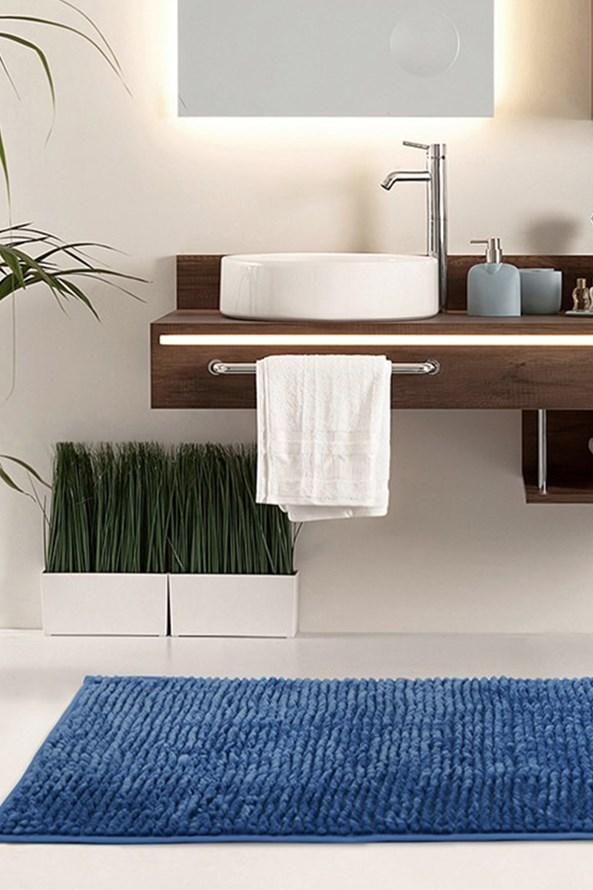 Bati_modra Dywanik łazienkowy Bati niebieski