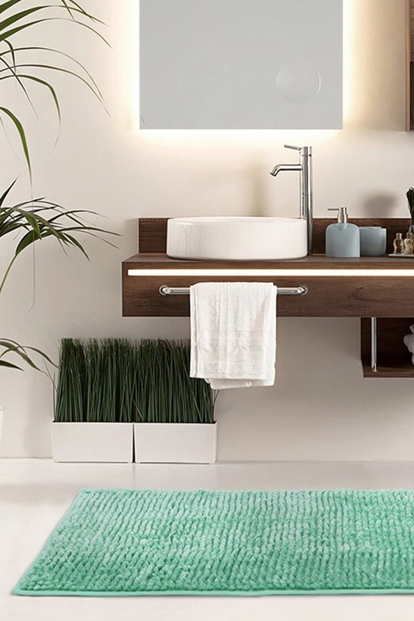 Dywanik łazienkowy Bati turkusowy