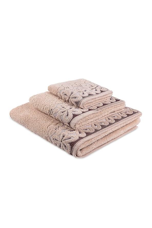 Prezentowy komplet ręczników Bella - beżowy