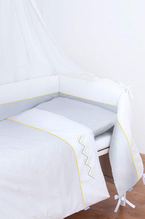 Komplet do dziecięcego łóżeczka Zig Zag
