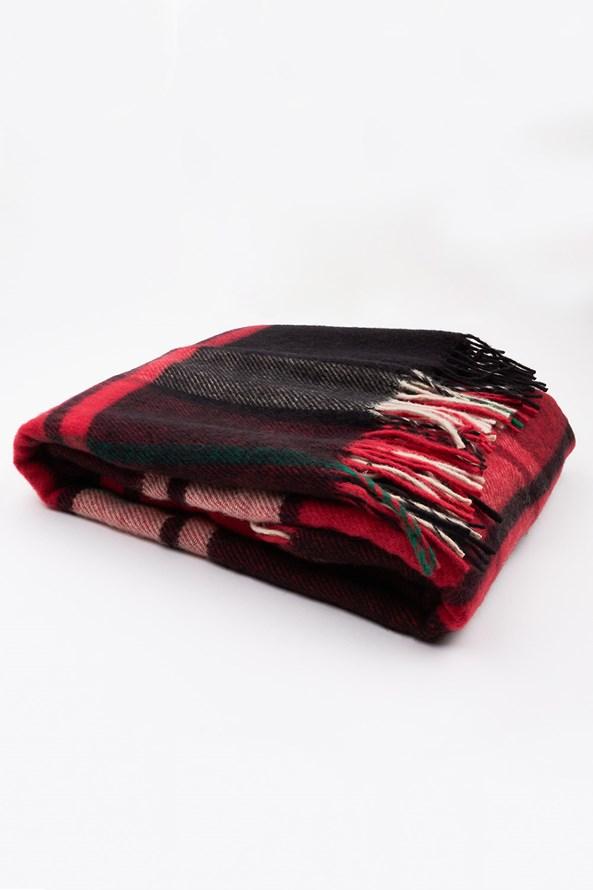 Luksusowy koc z nowozelandzkiej wełny - czerwony