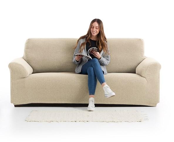 Pokrowiec na dwuosobową sofę Creta beżowy
