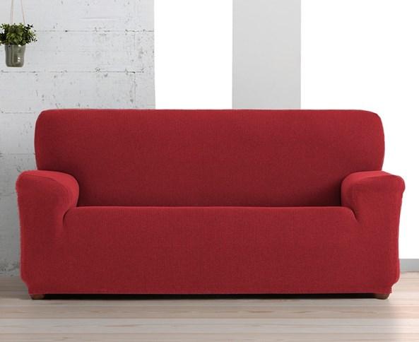 Pokrowiec na trzyosobową sofę Creta czerwony