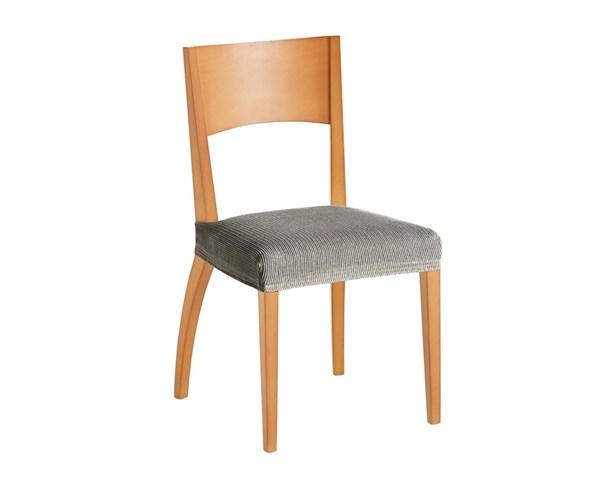 Komplet 2 pokrowców na krzesła białoczarny