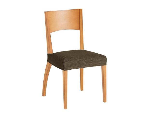 Komplet 2 pokrowców na krzesło brązowy