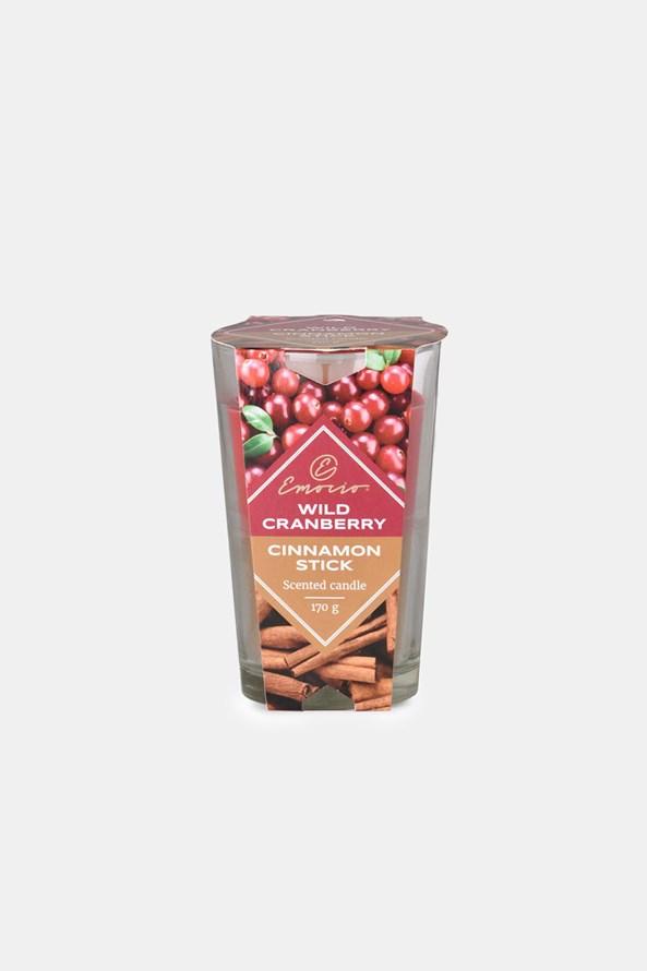 Świeczka zapachowa Wild Canberry and Cinnamon Stick dwukolorowa