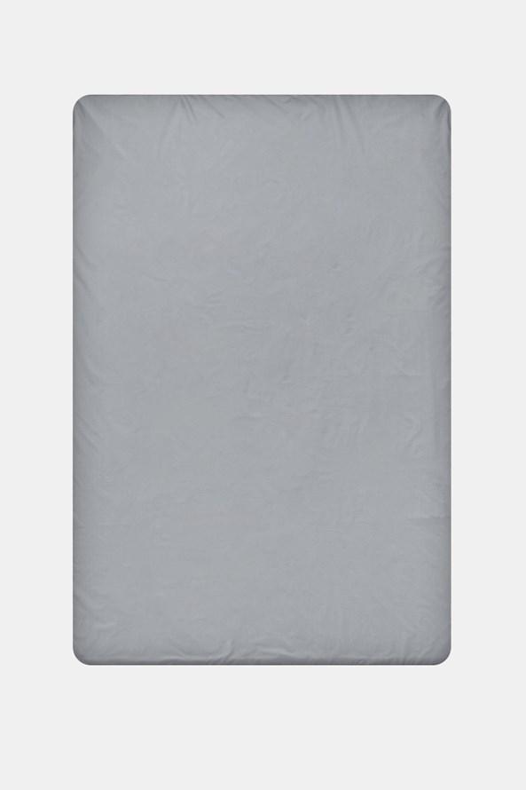 Bawełniane prześcieradło z gumką szare