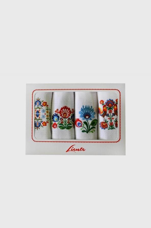 Komplet haftowanych ścierek kuchennych Folklor