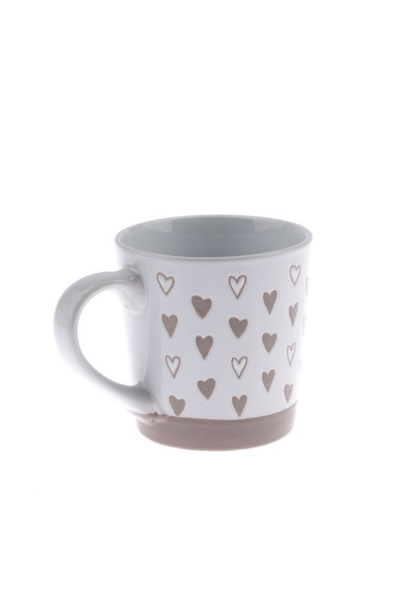 Ceramiczny kubek Serce - biały 473 ml