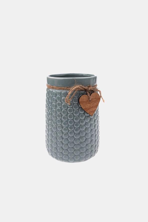 Ceramiczny wazon szary