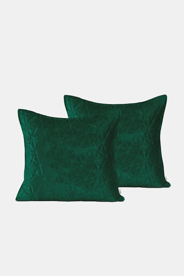 Komplet 2 szt. poszewek na małe poduszki Laila zielony