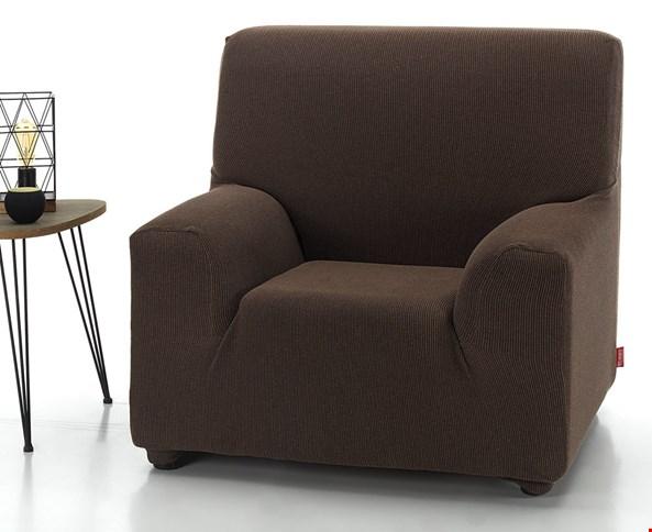 Pokrowiec na fotel Milos brązowy